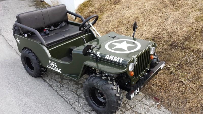 Stilig Mini Willys jeep | Hageby Motor AS ATV Cross Scooter Moped Båt NZ-63